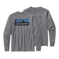 Patagonia Men's Long-Sleeved P6 Logo Cotton T-Shirt