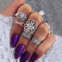 Bohemian  Ring Set Vintage  Rings For Women