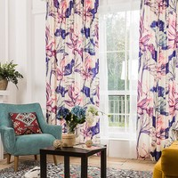 Drapes with Twilight Lotus Flower