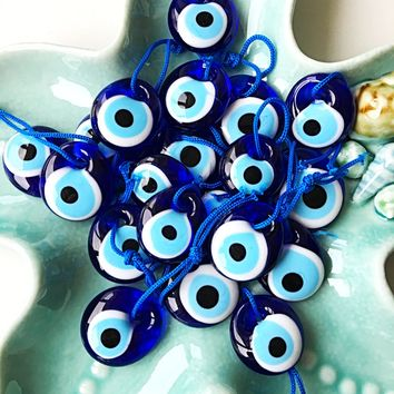 Unique wedding favor - Turkish evil eye bead - 3.5cm - 100 pcs - nazar boncuk