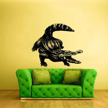 Wall Vinyl Sticker Decals Decor Australia Alligator Crocodile Animal Croc Thailand (z1595)