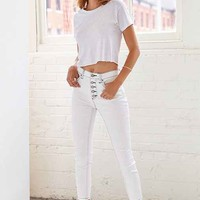 BDG Twig High-Rise Button-Fly Jean - White Screen- White