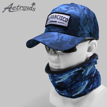 Trendy Winter Jacket [AETRENDS] New Camouflage Baseball Cap with Neck Warmers HipHop Snapback Hats for Men Baseball Caps Men Camo Hat Tactical Z-6604 AT_92_12