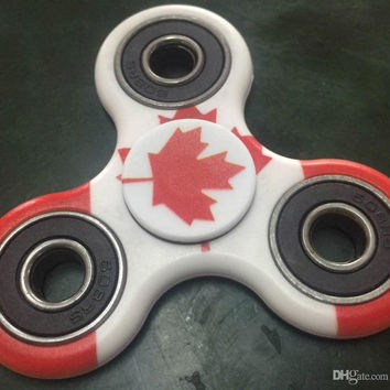 High Quality The Canada Flag Spin 2-3Minutes Fidget Spinner Hand Spinner Toy Stress Reducer