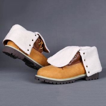 Timberland Women Leather Lace-Up Waterproof Boots Shoes-5
