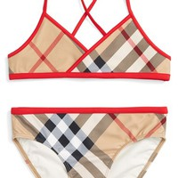 Burberry 'Crosby' Two-Piece Swimsuit (Little Girls & Big Girls) | Nordstrom