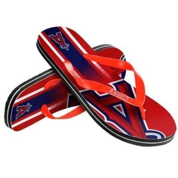 MLB LA Los Angeles Angels Unisex Gradient Thongs Flip Flops Sandals Baseball