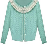 Sweet Girl Lace-Trim Crochet Cardigan - OASAP.com