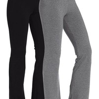 Women's Running Yoga Pants Fitness Trousers Boot-cut Black Grey
