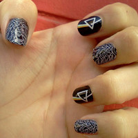 Nail Decals LOVE Will Tear us Apart JOY DIVISION Album Cover