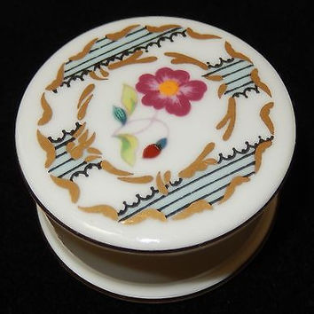 Coalport Porcelain Pillbox St James England Trinket Box Bone China Signed