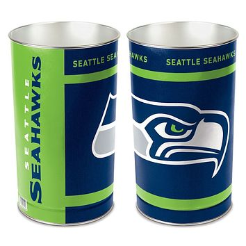 Seattle Seahawks Wastebasket 15 Inch