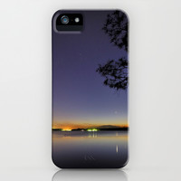 Planetary conjunction, reflections at the lake Mercury and Venus iPhone & iPod Case by Guido Montañés