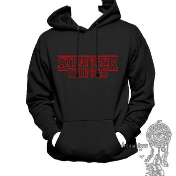 Stranger Things Line printed on Unisex Hoodie