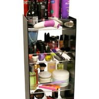 "Cosmetic Organizer Tower 24"" Tall. Has 4, 10"" Wide Crystal Clear Acrylic Shelves. Giving You 40"" of Storage. A Makeup Diva or Salon's Dream Come True! Great for Home Use or Salon Professionals. Proudly Made in the USA ! by PPM."