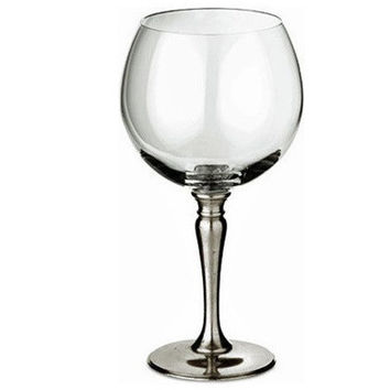 Match Pewter Crystal Balloon Wine Glass