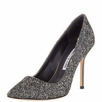 Manolo Blahnik BB Rock Crystal-Encrusted 105mm Pump