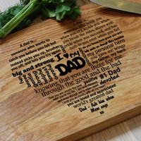 Engraved Cutting Board Fathers Day Gifts. Wooden, Personalized, Engraved, Birthday Gift, Gift for Dad, Gift for Him, Gift for Husband
