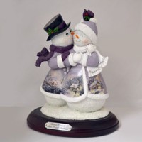 Thomas Kinkade Fig-Snow Kissed Christmas Snow Couple New  Item 0107942005 COA