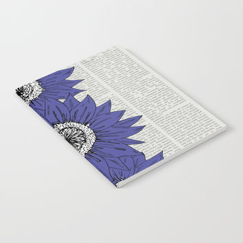 Blue Sunflowers Notebook by JustV