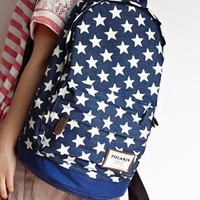 Sweet European Style Star Print Denim Backpack from styleonline