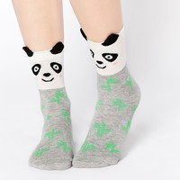 ASOS Panda With Bamboo Ankle Socks