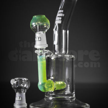 Silika Slyme Bent Neck Micro Oiler 14 mm by Silika Glass | TheDabstore