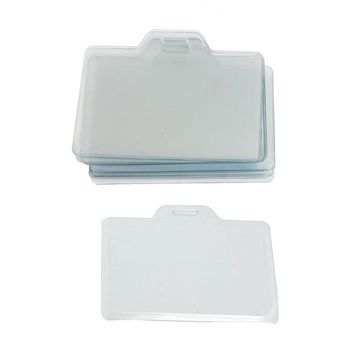 """Affordable 20 Pcs 3.3"""" x 2"""" Clear Plastic Name Tag Business ID Card Holder"""