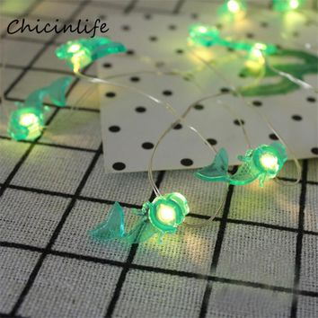 Chicinlife Mermaid Unicorn Flamingo String Light Kids Room Decoration Birthday Party Supplies