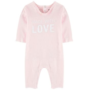 Zadig & Voltaire Baby Girls 'Made With Love' Romper