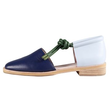 MOLLY SHOE / NAVY-PALE BLUE