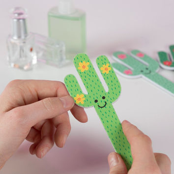 Cactus Nail Files (Assorted Colors)