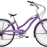 "Micargi Rover 7-Speed 26"" Women's Beach Cruiser Bicycle, Steel Frame (Purple)"