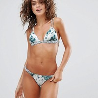 Somedays Lovin Floral Printed Triangle Bikini at asos.com
