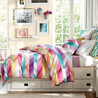 Oxford Ikat Stripe Bedroom