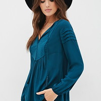 Quilted Bib Blouse
