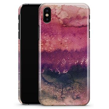 Dark v2bsorbed Watercolor Texture - iPhone X Clipit Case