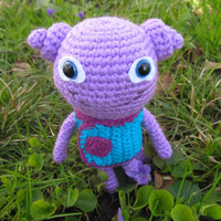 "Crochet Toy from Movie ""Home"", Crochet Toy Oh, Cut Amigurumi, Violet Oh"