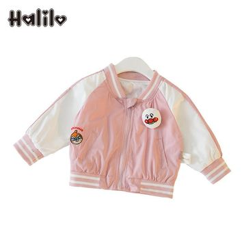 Halilo Baby Girls Outerwear Infant Cartoon Coat Embroidery Newborn Jackets For Baby Girls Boys Spring Clothes Girl Jackets Coats