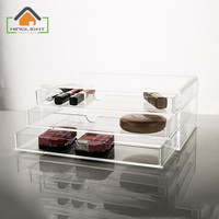 Acrylic makeup organize Storage drawer Cosmetic Box (3 drawer) Transparent Acrylic cace high quality rangement maquillage XFL504