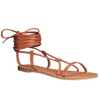 Qupid Athena Women's Black / Tan Faux-leather Lace Up Gladiator Sandals - Free Shipping On Orders Over $45 - Overstock.com - 18754939 - Mobile