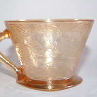 Vintage 1950s Marigold FLORAGOLD LOUISA Cup By Jeanette Glass Company