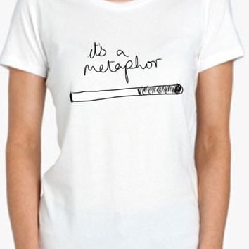 its a metaphor fault in our stars Tshirt Screenprinted Apparel Brandy Melville Inspired Design Clothing Unisex Adults Women Tees