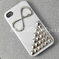 "4 Colors for choice-----Studded Iphone 4 case with One Direction ""Directioner"" Infinity, Iphone Case, Iphone 4S case, Hard Iphone 4 Case"