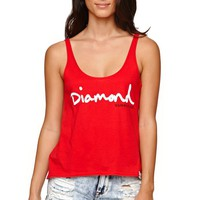 Diamond Supply Co Diamond Red Tank - Womens Tee - Red