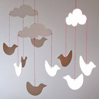 mobile - clouds with birds