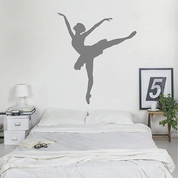 kik2269 Wall Decal Sticker ballerina dance ballet pas pirouette girl living room bedroom