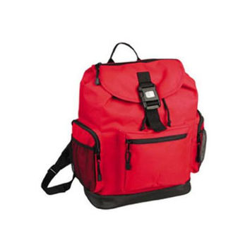 Reflector BackPack w/ Leather-Like Bottom-RED