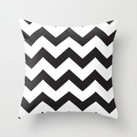 Black and White Chevron Pillow Cover - Black Chevron Pattern Pillow Cover - Modern Throw Pillow - Home Decor - By Aldari Home