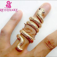 RED SNAKE Fashion ring High Quality Fashion Golden color Snake Rings